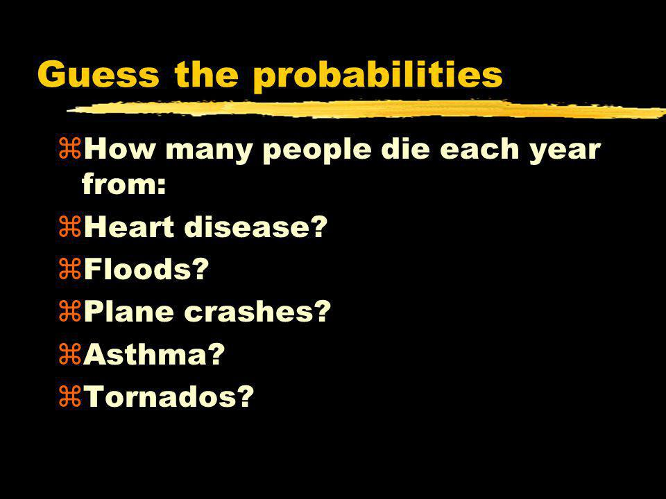 Guess the probabilities