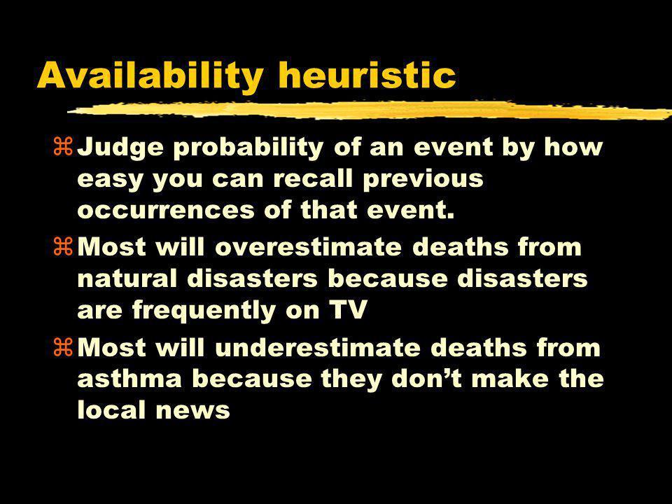 Availability heuristic