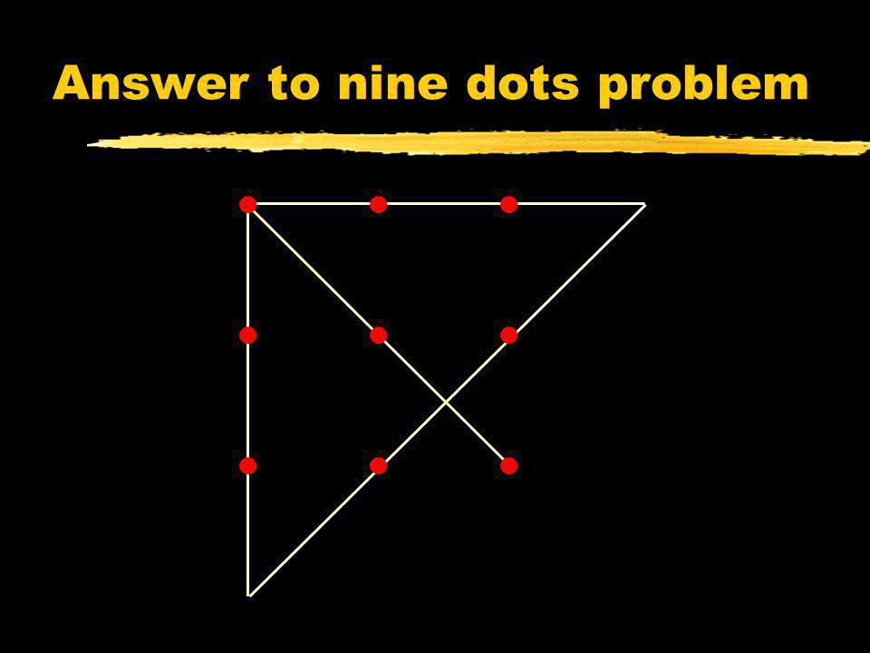 Answer to nine dots problem