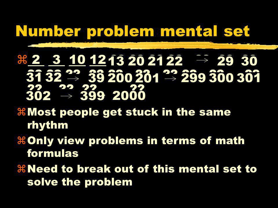 Number problem mental set