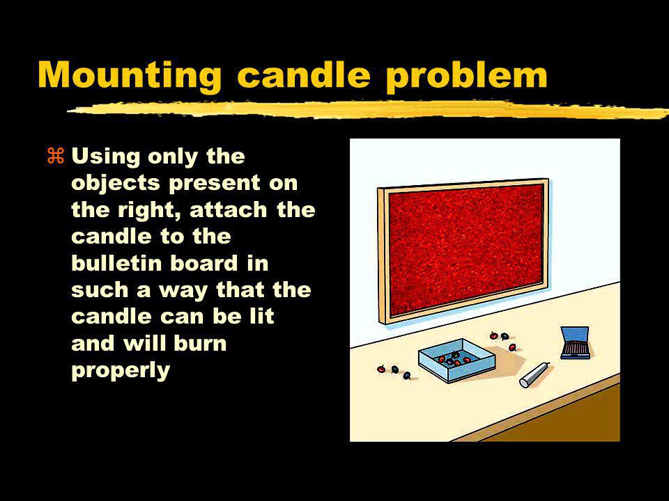 Mounting candle problem