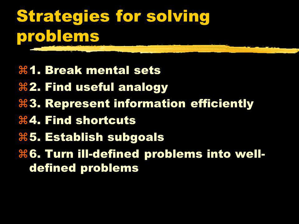 Strategies for solving problems