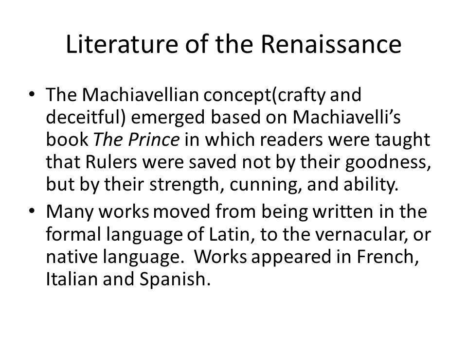 Literature of the Renaissance