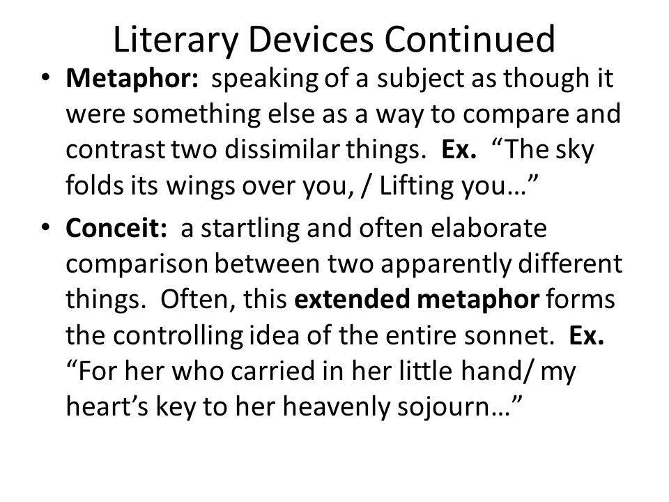 Literary Devices Continued