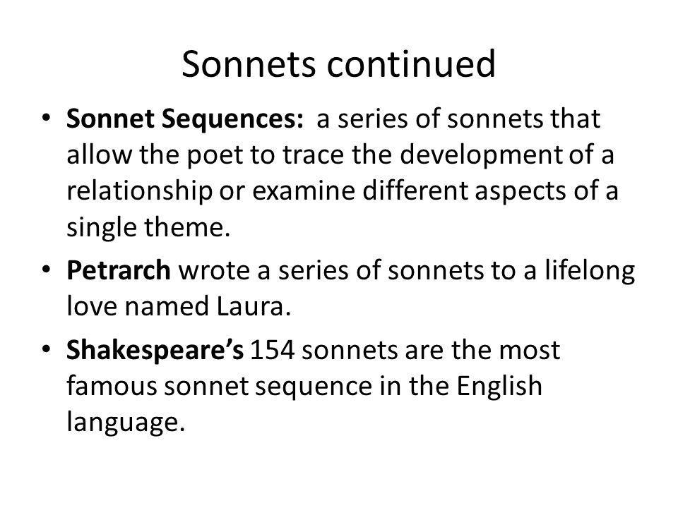 Sonnets continued