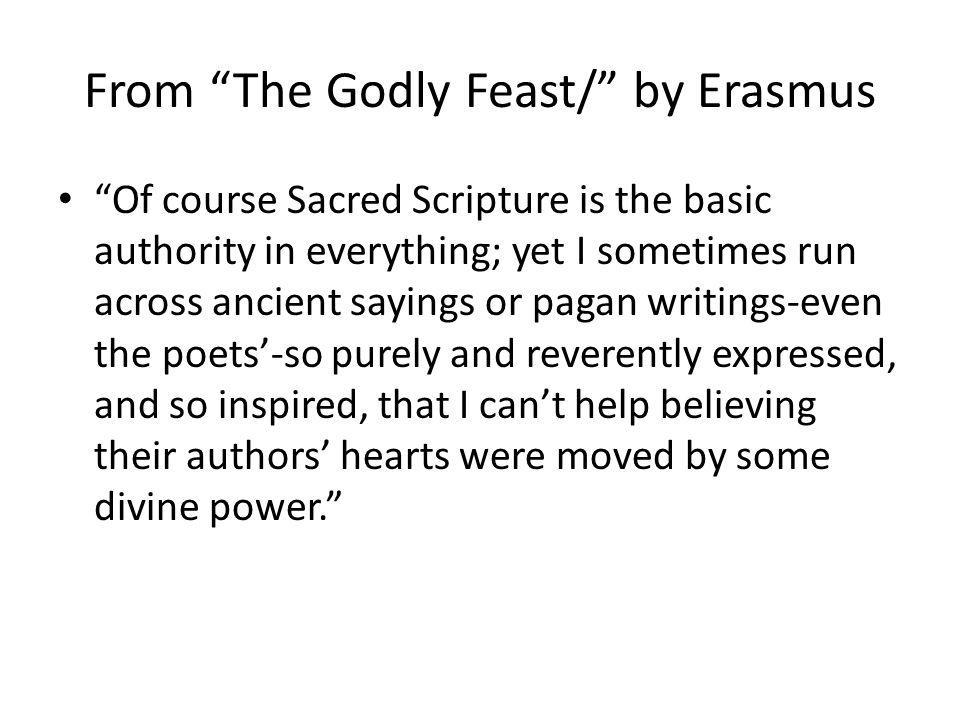 From The Godly Feast/ by Erasmus