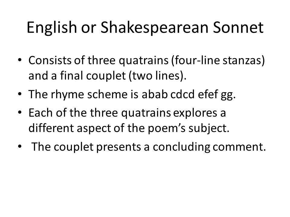 English or Shakespearean Sonnet