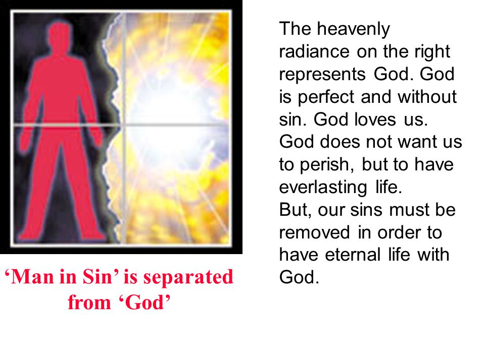 'Man in Sin' is separated from 'God'