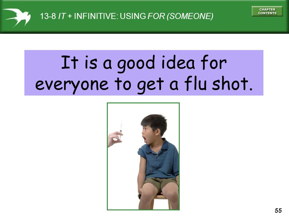 It is a good idea for everyone to get a flu shot.