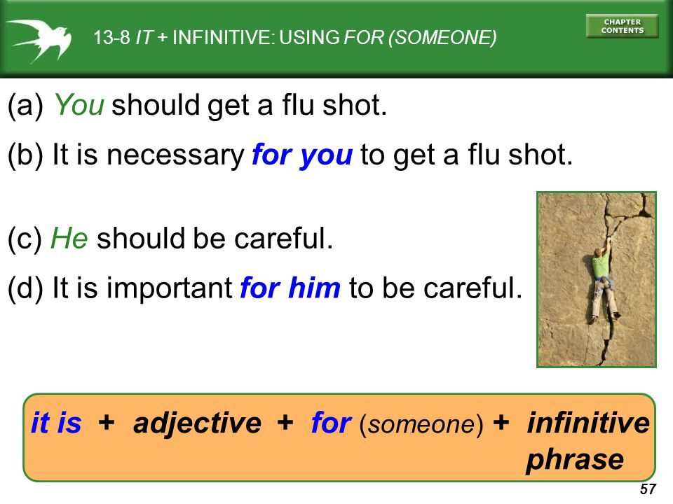 (a) You should get a flu shot.