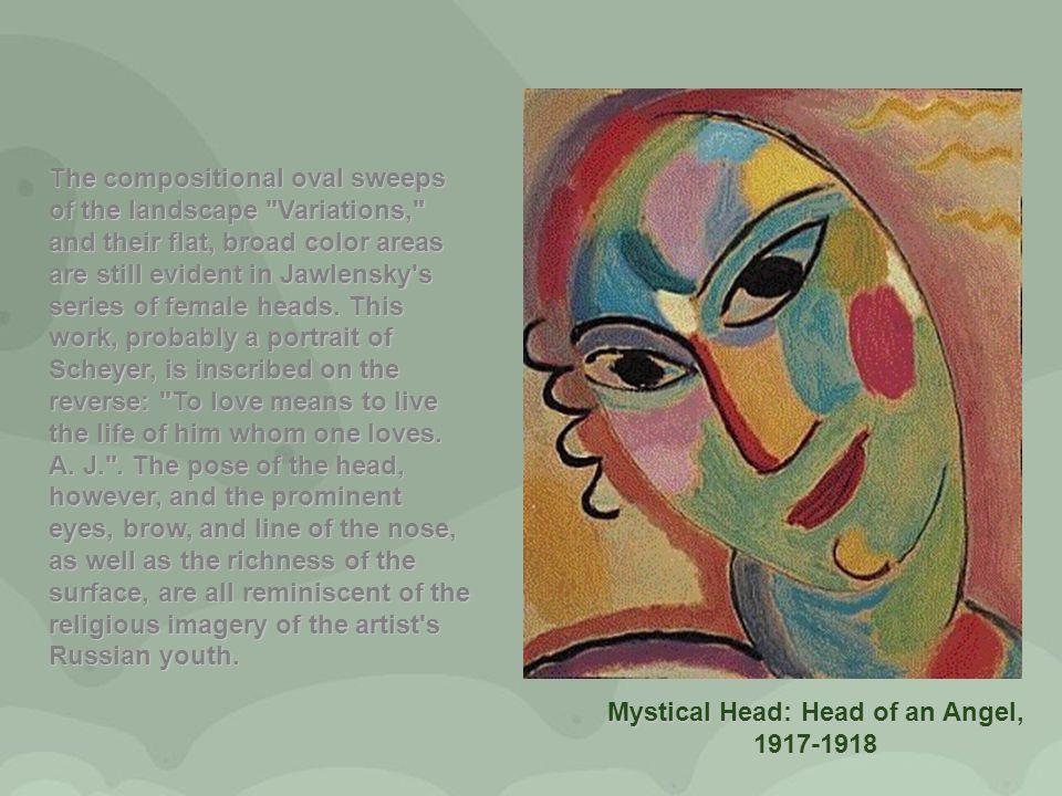 Mystical Head: Head of an Angel, 1917-1918