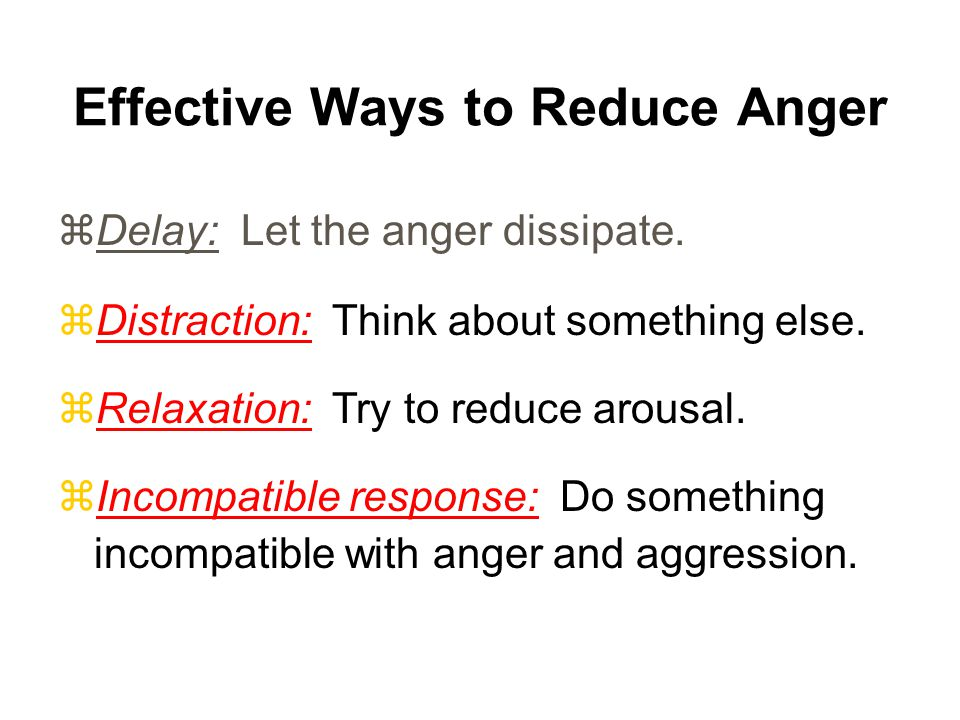 Effective Ways to Reduce Anger
