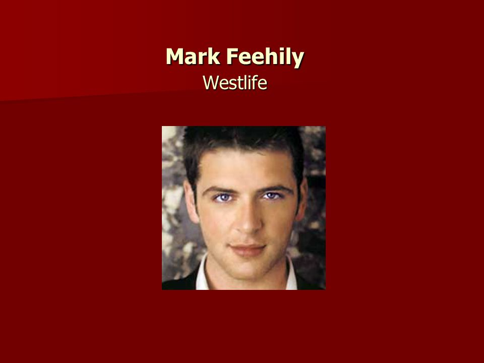 Mark Feehily Westlife