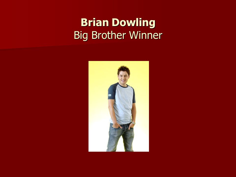 Brian Dowling Big Brother Winner