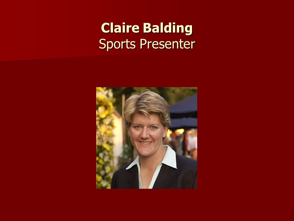 Claire Balding Sports Presenter