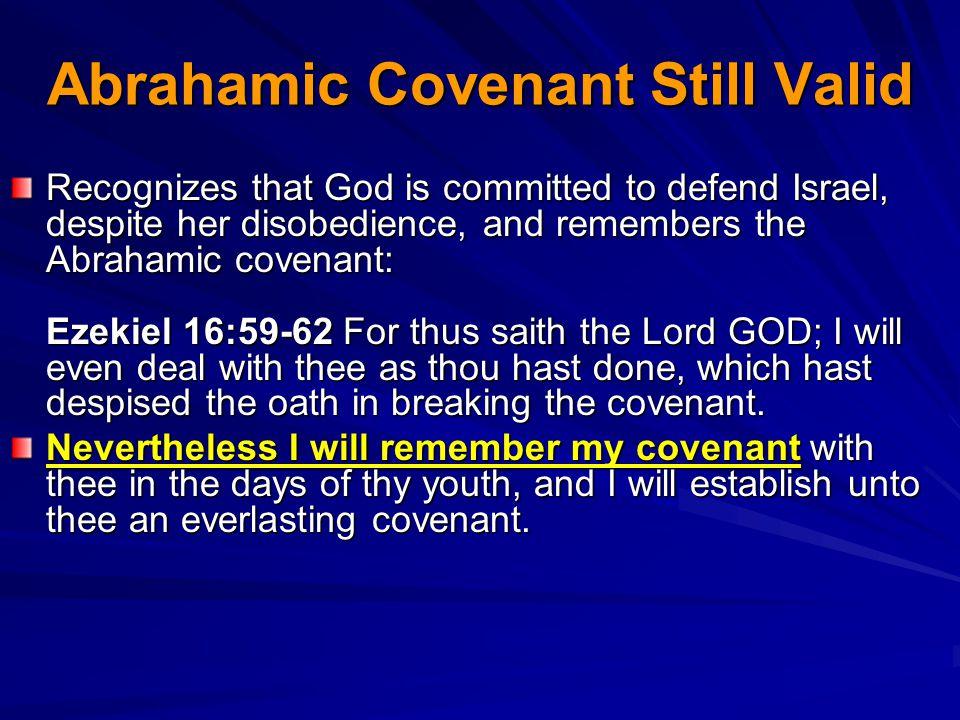 Abrahamic Covenant Still Valid
