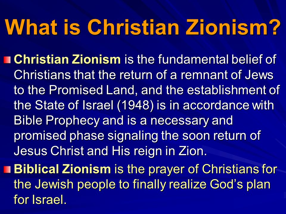What is Christian Zionism