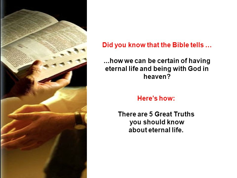 Did you know that the Bible tells …