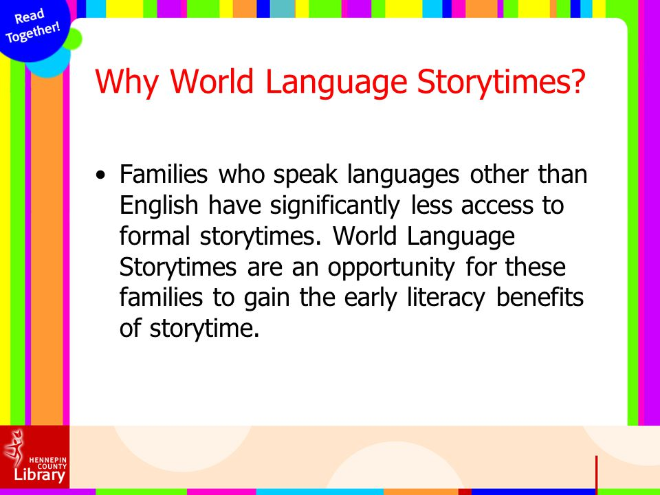 Why World Language Storytimes