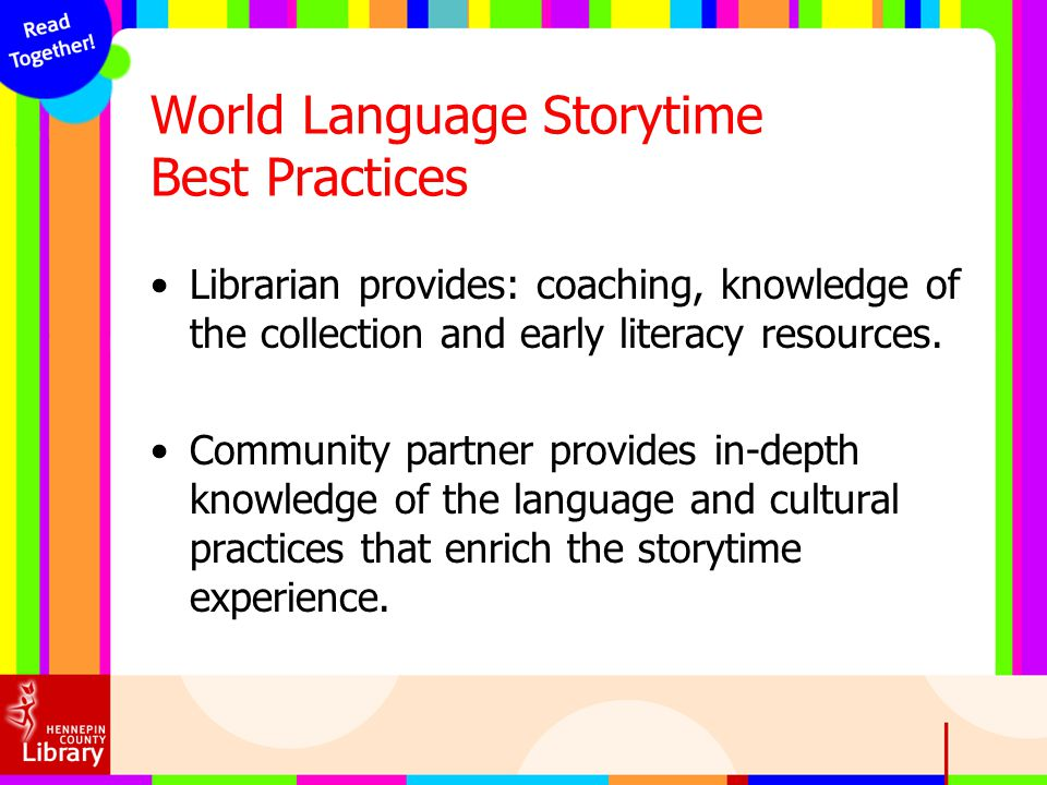 World Language Storytime Best Practices
