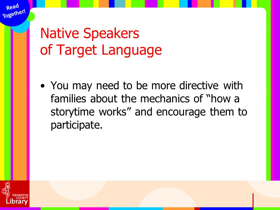 Native Speakers of Target Language
