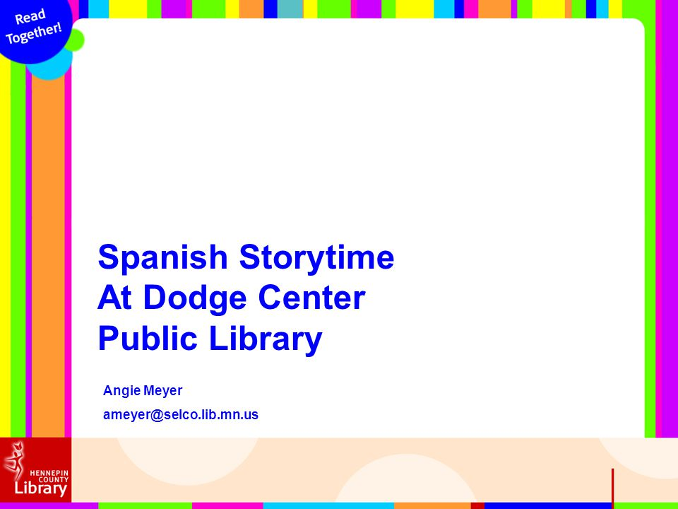 Spanish Storytime At Dodge Center Public Library Angie Meyer