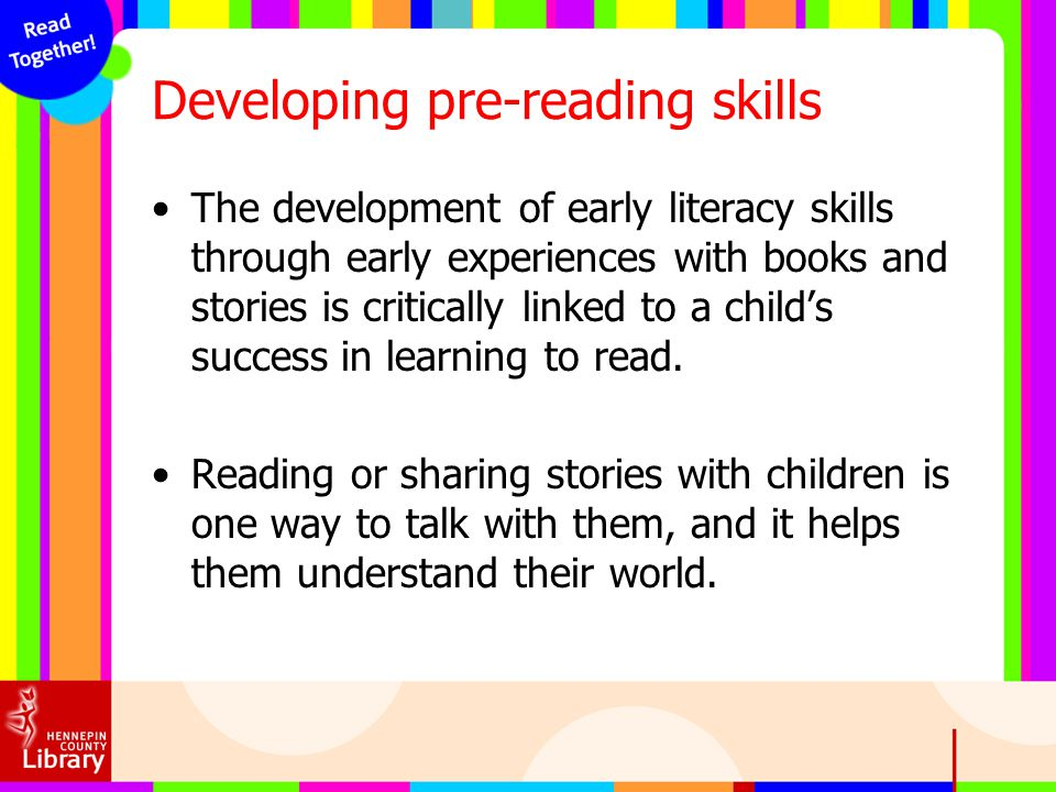 Developing pre-reading skills