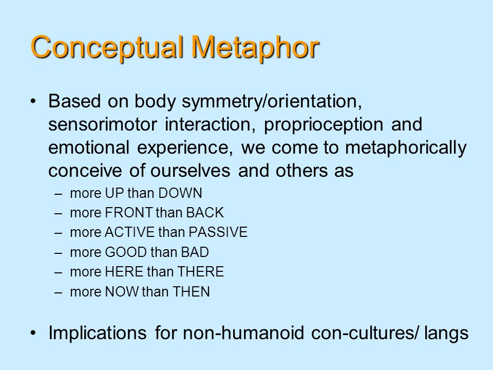 Conceptual Metaphor