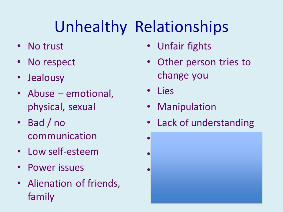Unhealthy Relationships