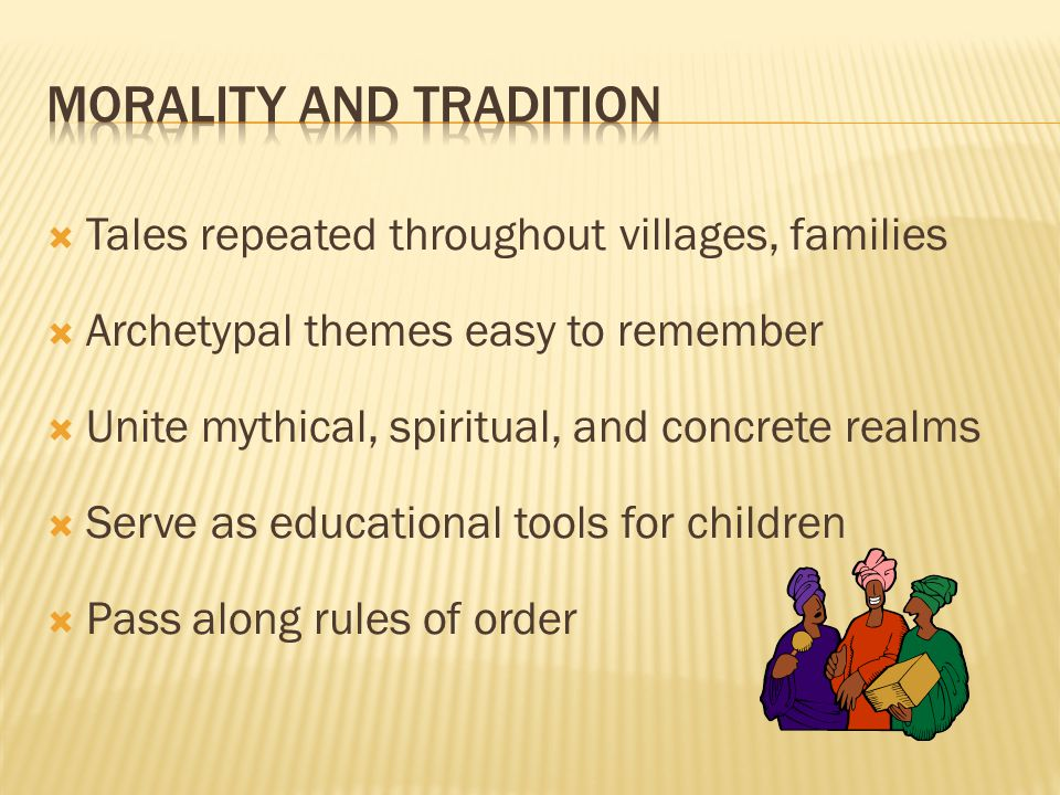 morality and tradition