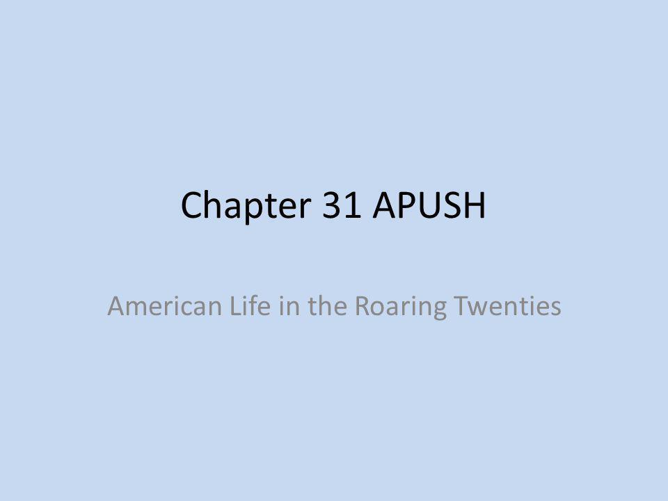 American Life in the Roaring Twenties