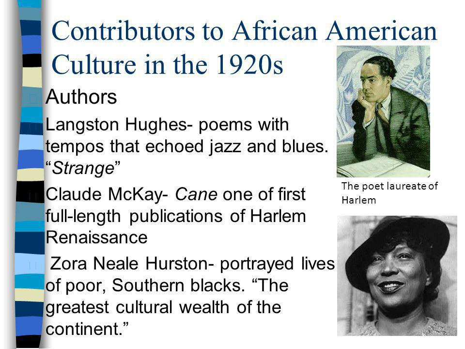 Contributors to African American Culture in the 1920s