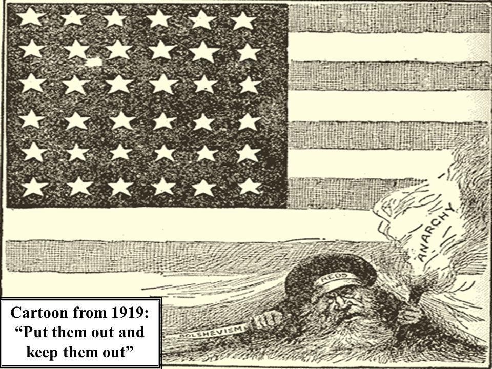 Cartoon from 1919: Put them out and keep them out