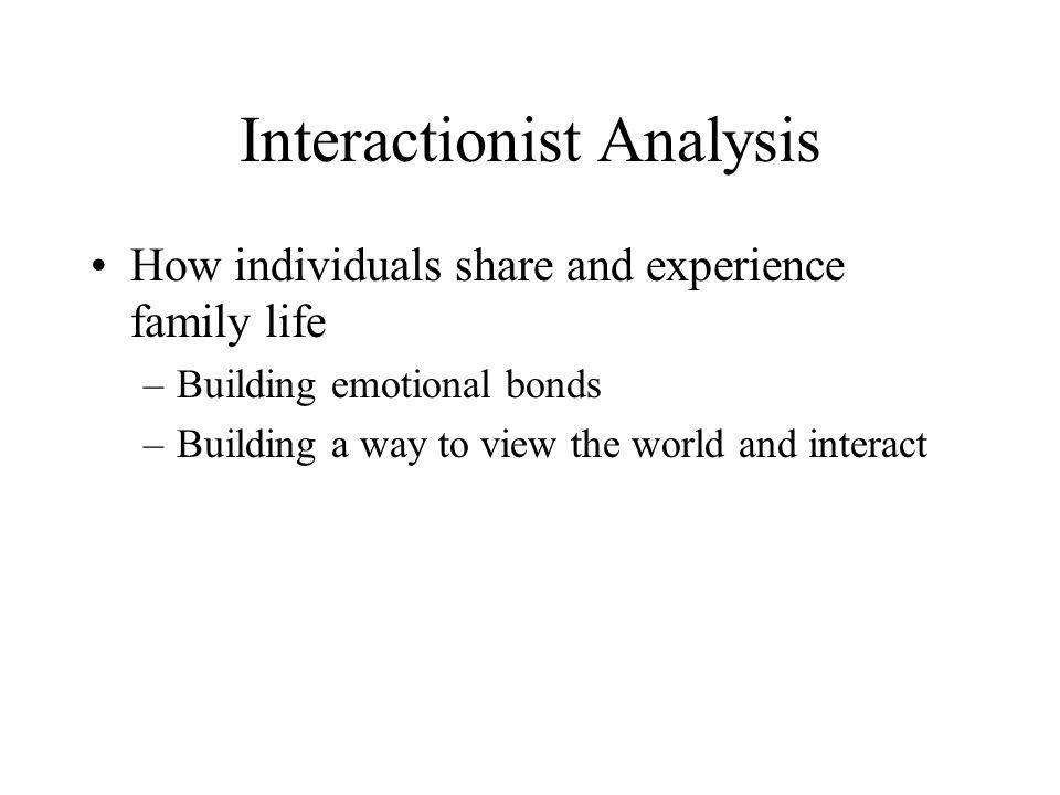 Interactionist Analysis