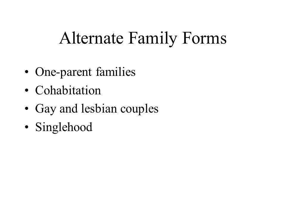 Alternate Family Forms