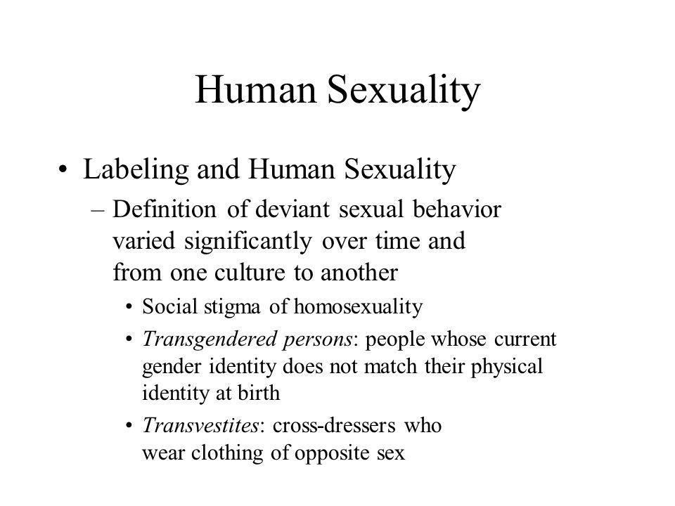 Human Sexuality Labeling and Human Sexuality