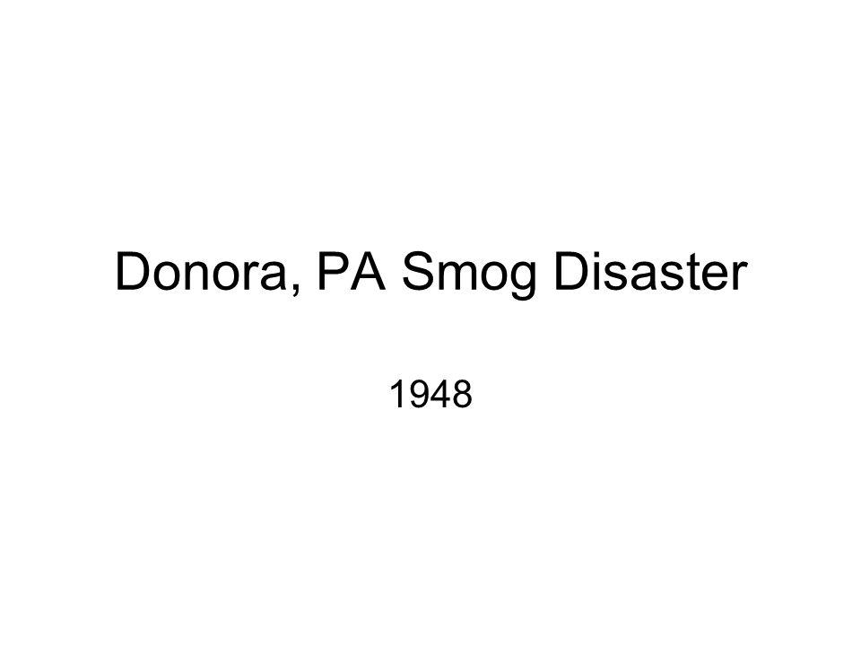 Donora, PA Smog Disaster