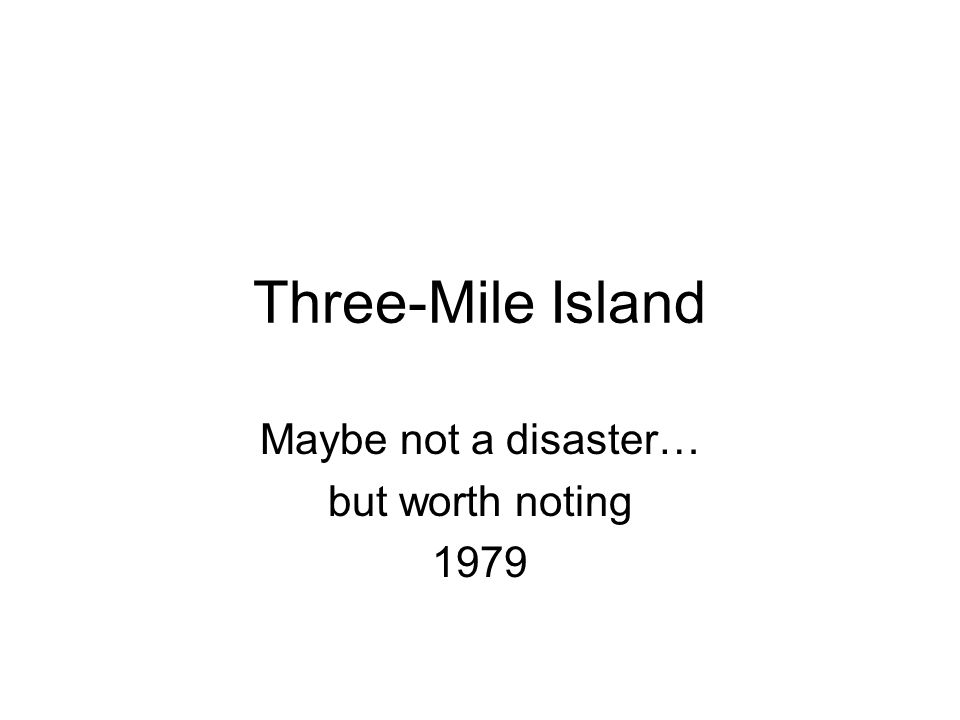 Maybe not a disaster… but worth noting 1979