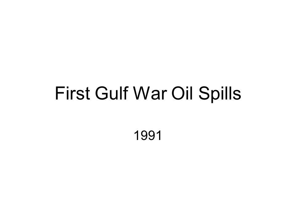 First Gulf War Oil Spills