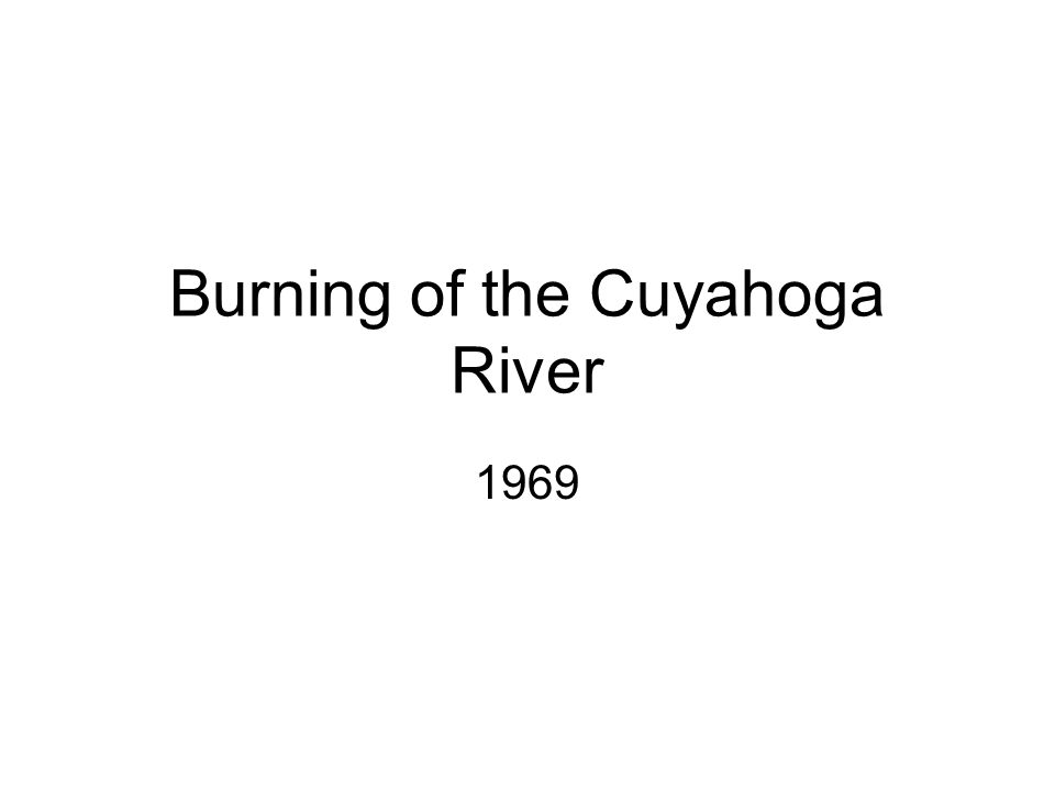 Burning of the Cuyahoga River
