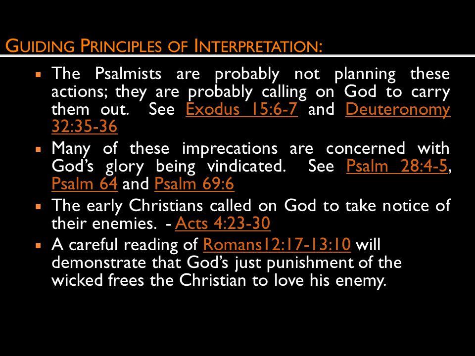 Guiding Principles of Interpretation: