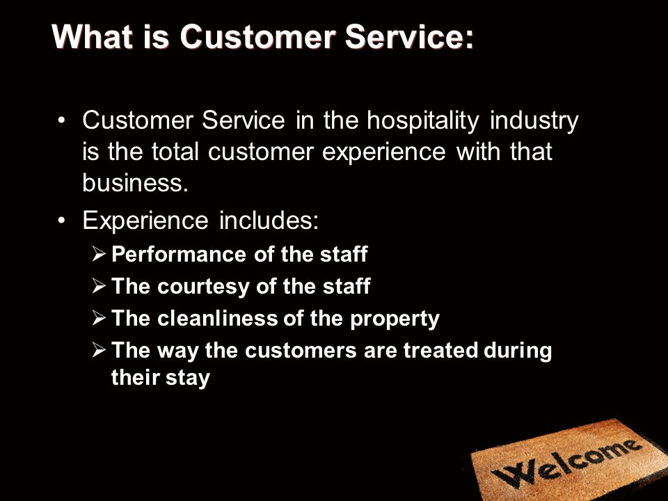 What is Customer Service: