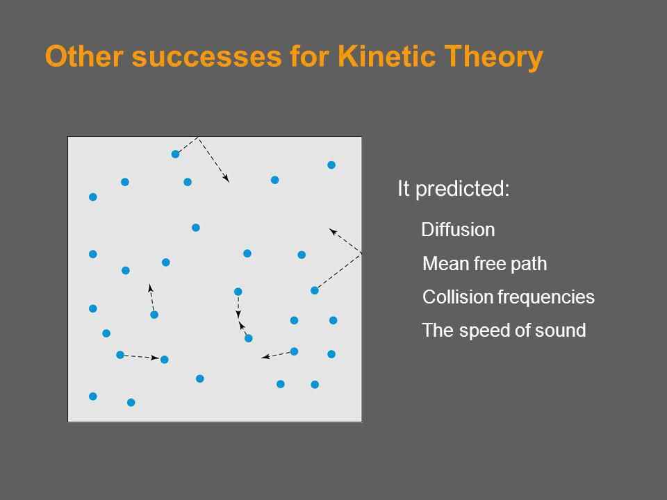 Other successes for Kinetic Theory