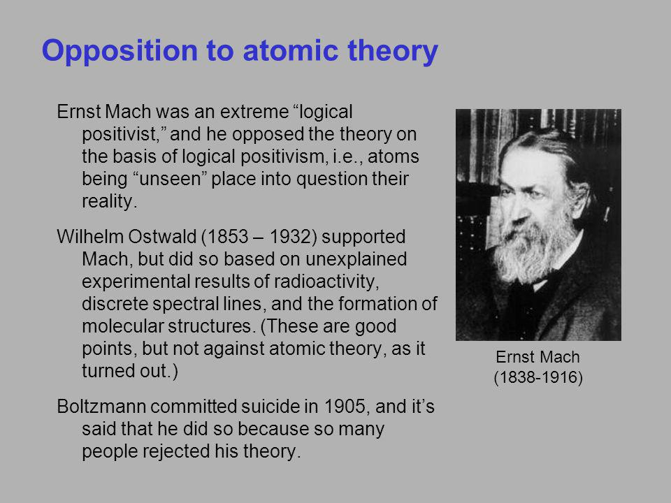 Opposition to atomic theory