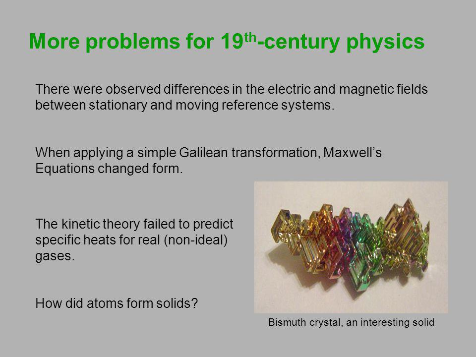 More problems for 19th-century physics