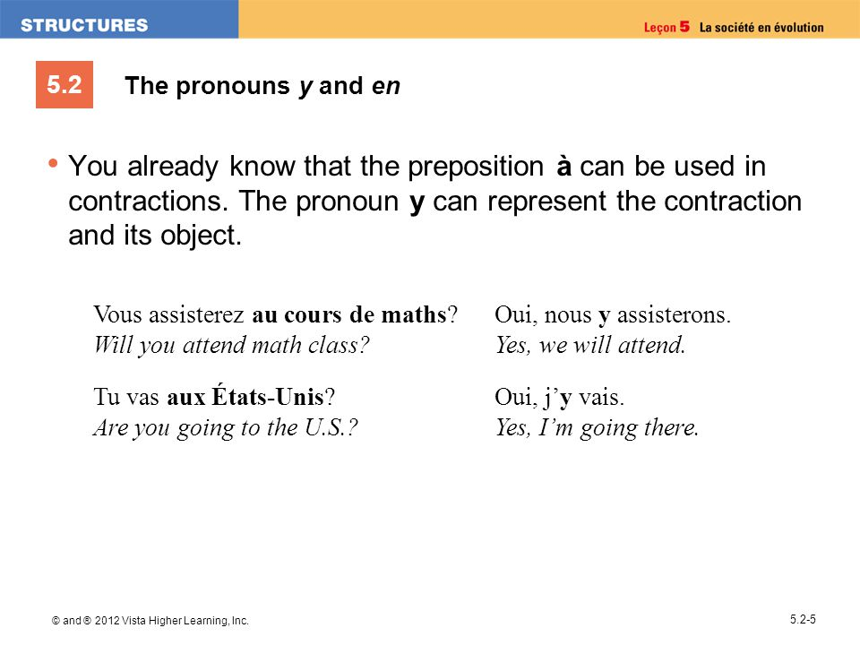 The pronouns y and en