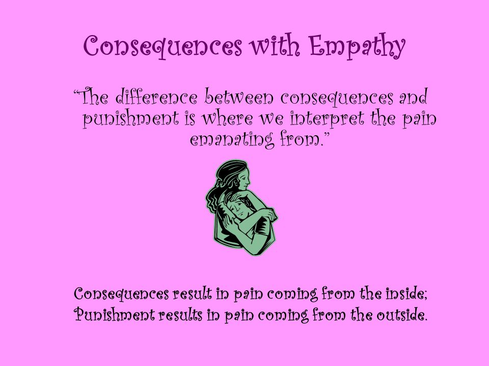 Consequences with Empathy