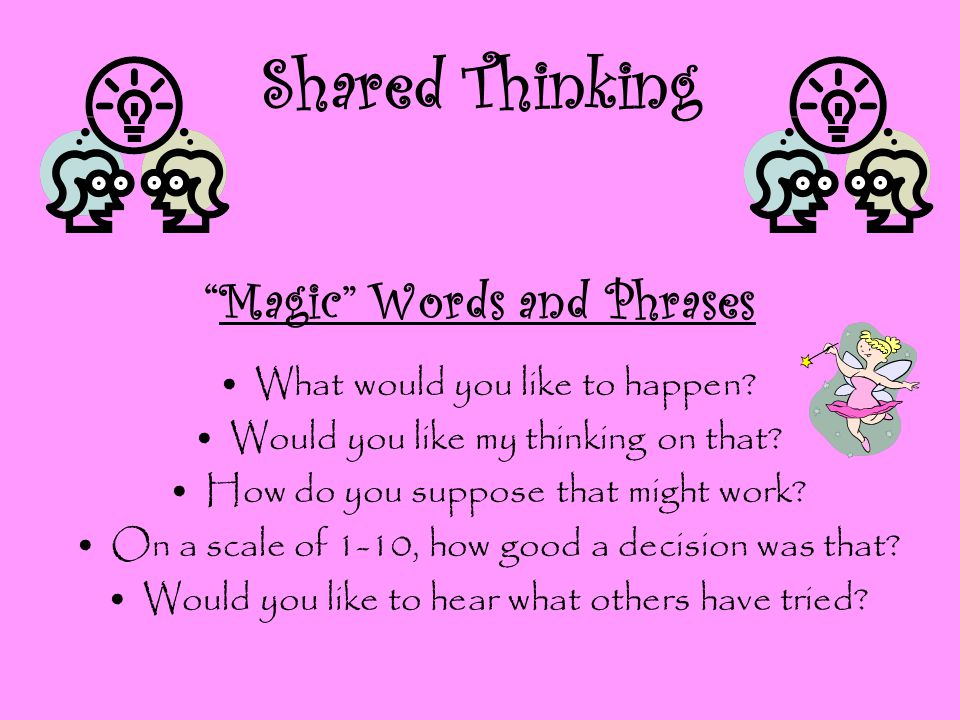 Shared Thinking Magic Words and Phrases