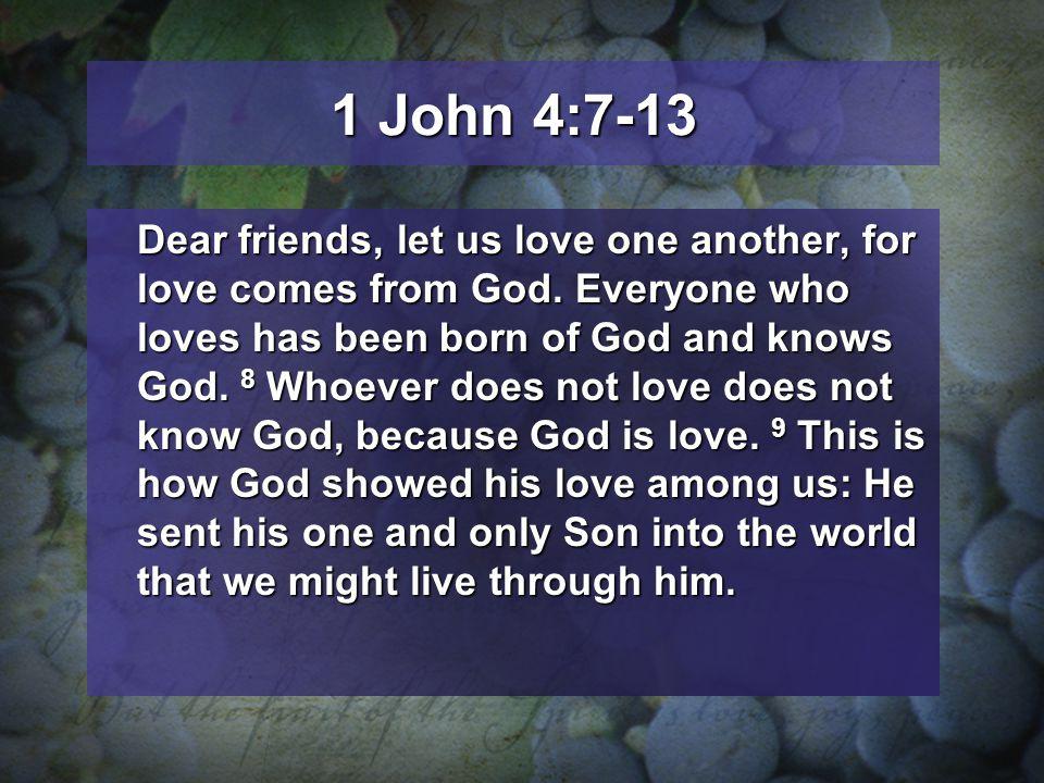 1 John 4:7-13