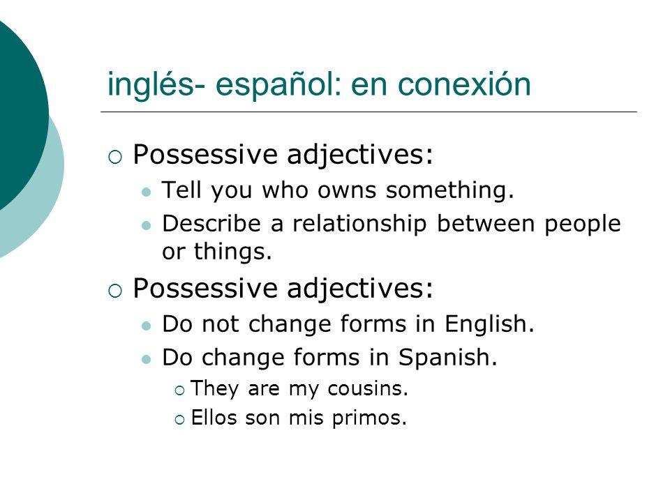inglés- español: en conexión